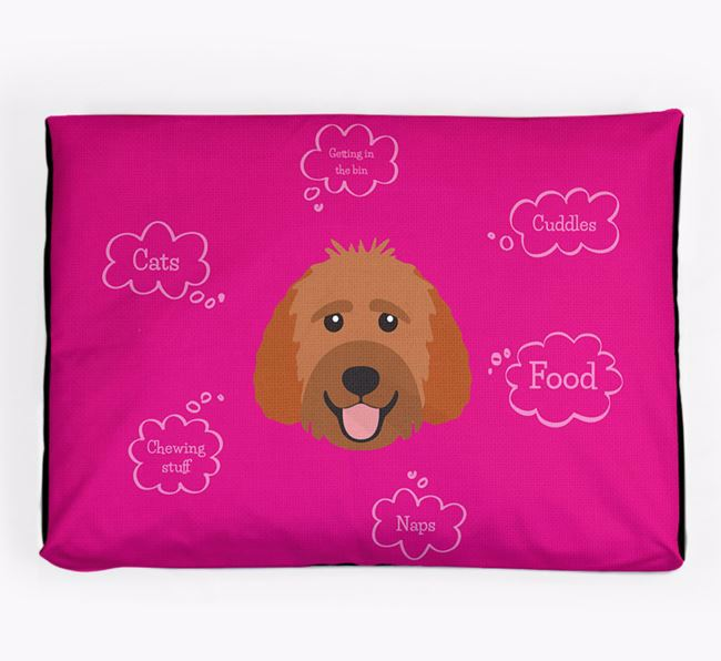 Personalised 'Sweet Dreams' Dog Bed for your Goldendoodle