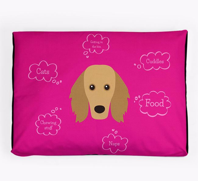 Personalised 'Sweet Dreams' Dog Bed for your Golden Dox