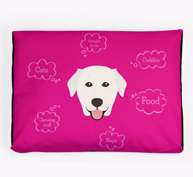 Personalised 'Sweet Dreams' Dog Bed for your Golden Labrador
