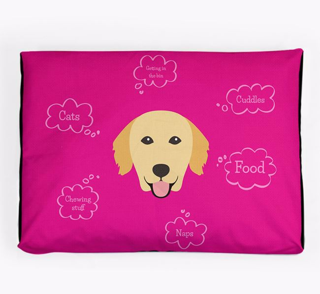 Personalised 'Sweet Dreams' Dog Bed for your Golden Retriever