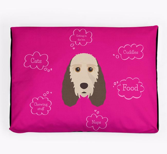 Personalised 'Sweet Dreams' Dog Bed for your Grand Basset Griffon Vendeen