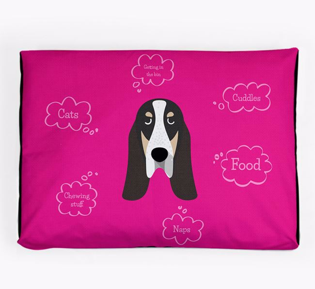 Personalised 'Sweet Dreams' Dog Bed for your Grand Bleu De Gascogne