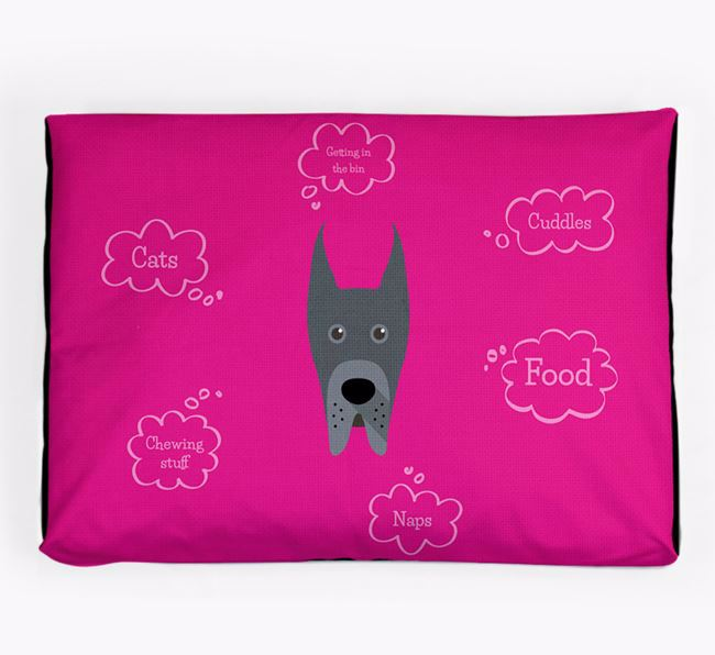 Personalised 'Sweet Dreams' Dog Bed for your Great Dane