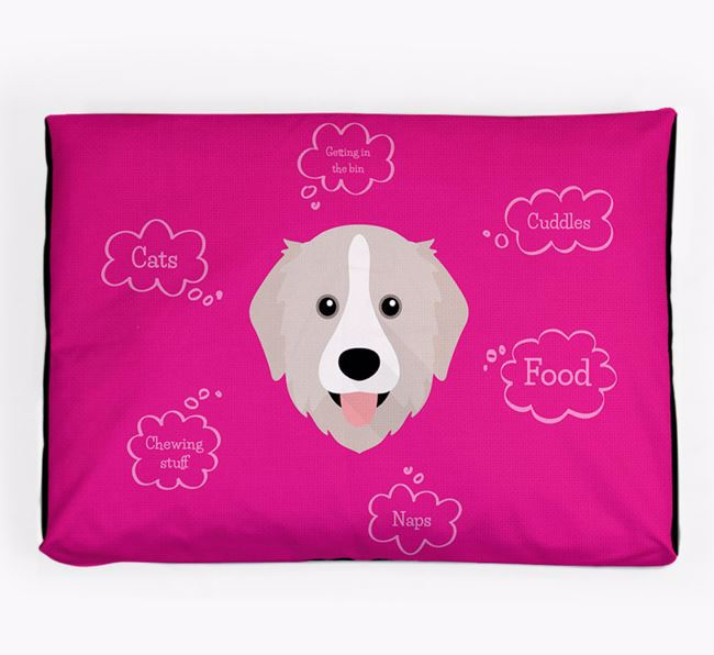 Personalised 'Sweet Dreams' Dog Bed for your Great Pyrenees