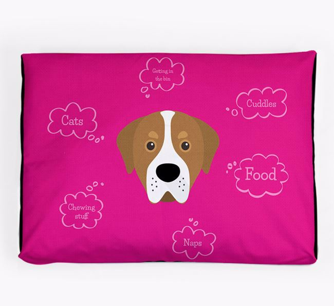 Personalised 'Sweet Dreams' Dog Bed for your Greater Swiss Mountain Dog