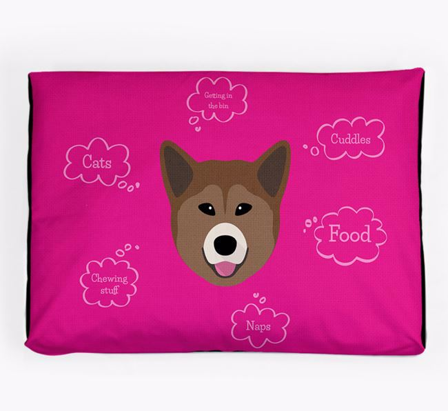Personalised 'Sweet Dreams' Dog Bed for your Greenland Dog