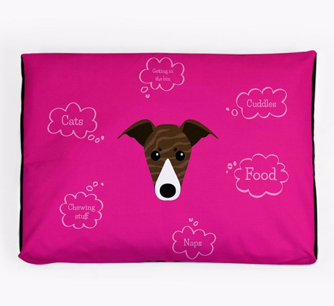 Personalised 'Sweet Dreams' Dog Bed for your Greyhound