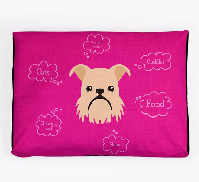 Personalised 'Sweet Dreams' Dog Bed for your Griffon Bruxellois