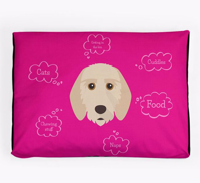 Personalised 'Sweet Dreams' Dog Bed for your Griffon Fauve De Bretagne