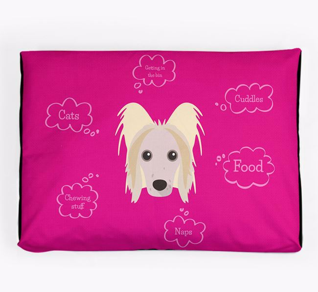 Personalised 'Sweet Dreams' Dog Bed for your Hairless Chinese Crested