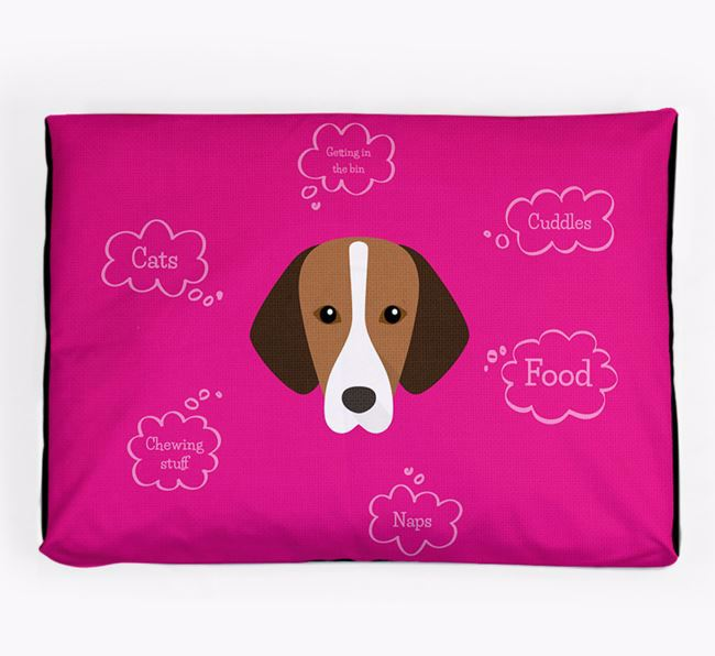 Personalised 'Sweet Dreams' Dog Bed for your Hamiltonstovare