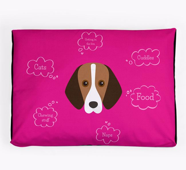 Personalised 'Sweet Dreams' Dog Bed for your Harrier
