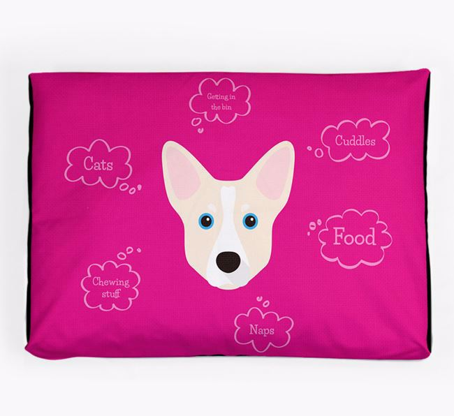 Personalised 'Sweet Dreams' Dog Bed for your Horgi