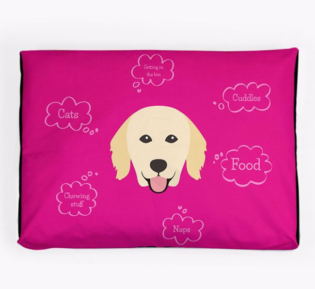 Personalised 'Sweet Dreams' Dog Bed for your Hovawart