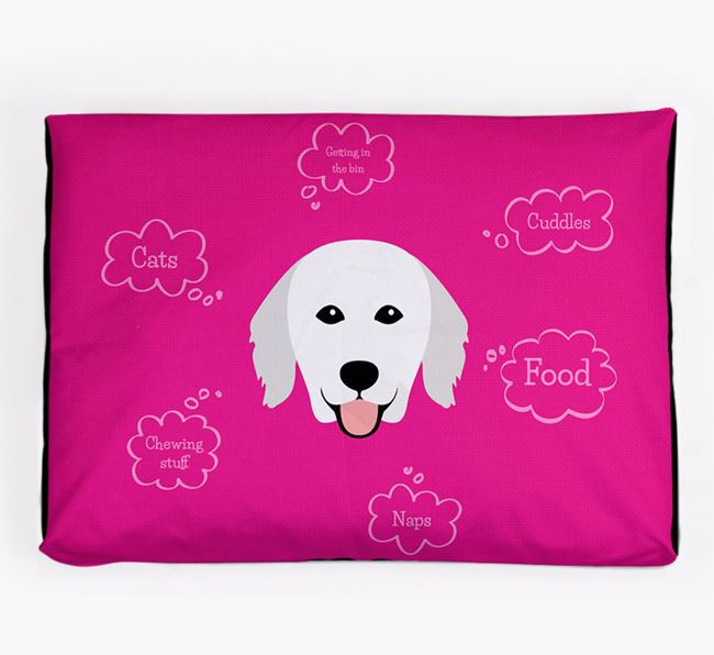 Personalised 'Sweet Dreams' Dog Bed for your Hungarian Kuvasz