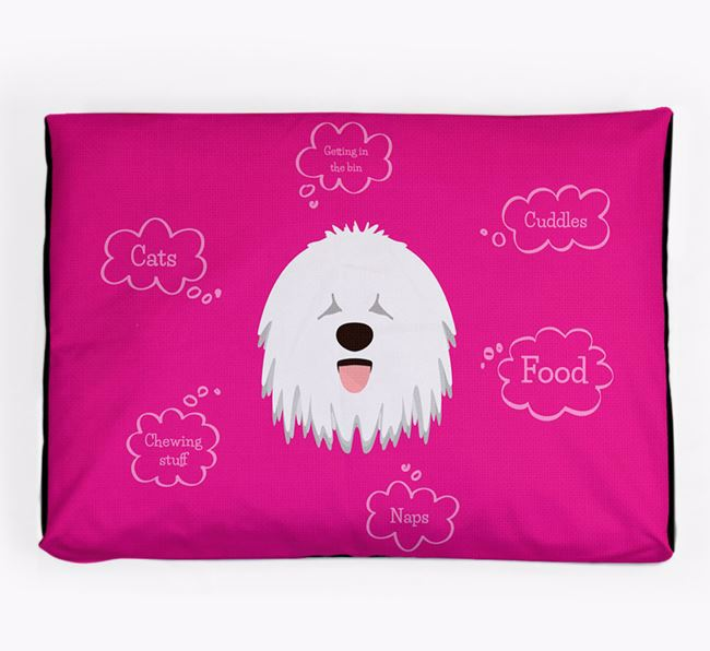 Personalised 'Sweet Dreams' Dog Bed for your Hungarian Puli