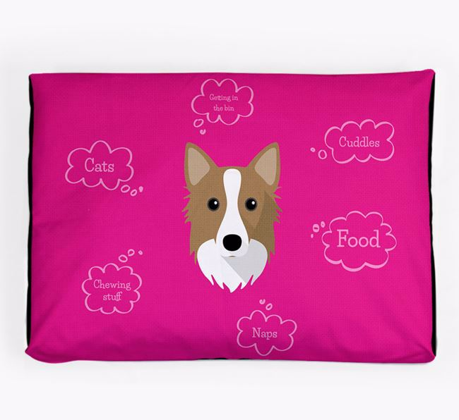 Personalised 'Sweet Dreams' Dog Bed for your Icelandic Sheepdog