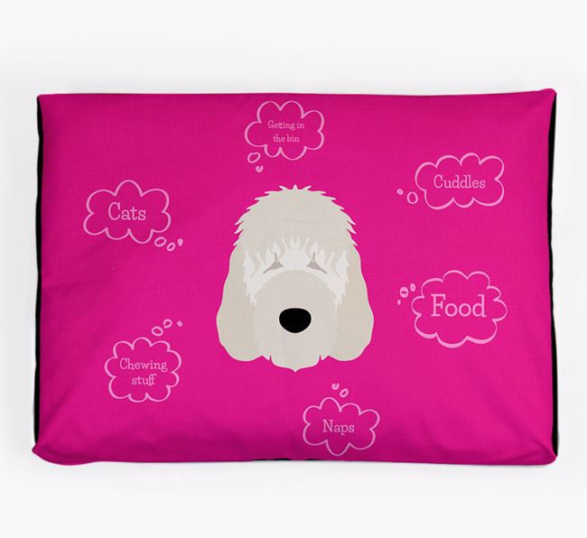 Personalised 'Sweet Dreams' Dog Bed for your Irish Doodle