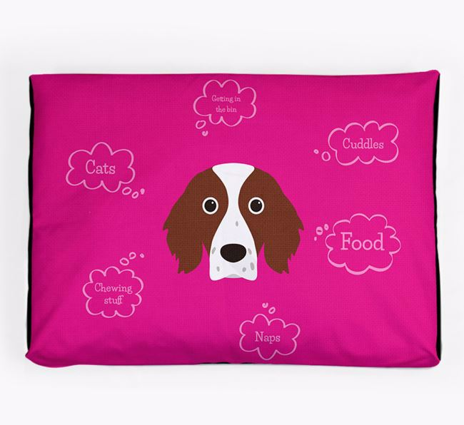 Personalised 'Sweet Dreams' Dog Bed for your Irish Red & White Setter