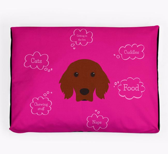 Personalised 'Sweet Dreams' Dog Bed for your Irish Setter