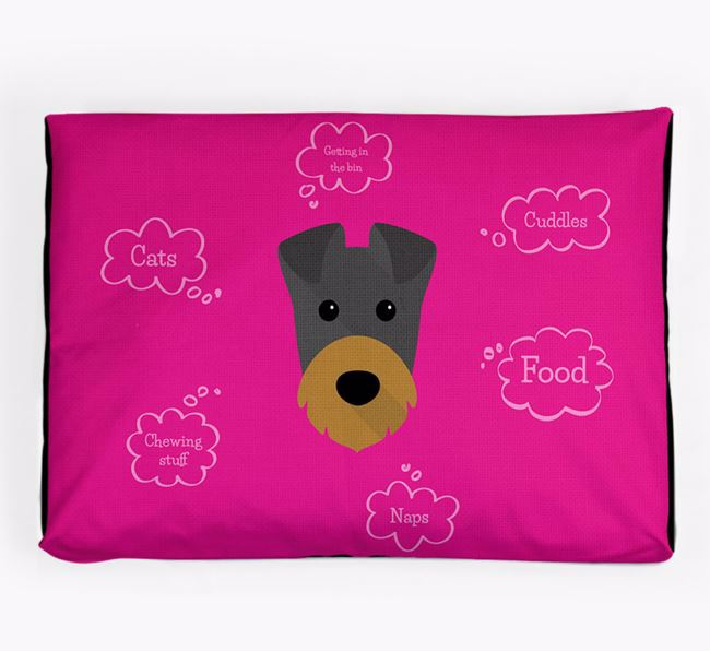 Personalised 'Sweet Dreams' Dog Bed for your Irish Terrier