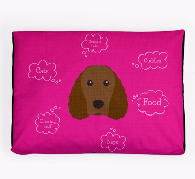 Personalised 'Sweet Dreams' Dog Bed for your Irish Water Spaniel