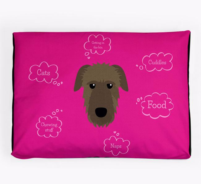 Personalised 'Sweet Dreams' Dog Bed for your Irish Wolfhound