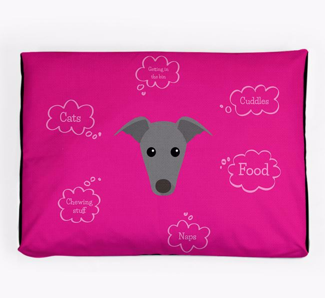 Personalised 'Sweet Dreams' Dog Bed for your Italian Greyhound