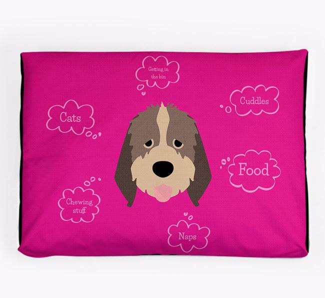 Personalised 'Sweet Dreams' Dog Bed for your Italian Spinone