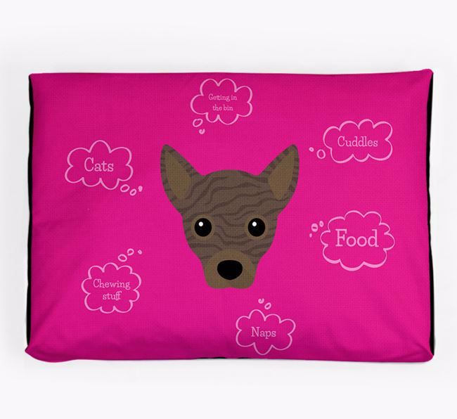 Personalised 'Sweet Dreams' Dog Bed for your Jackahuahua