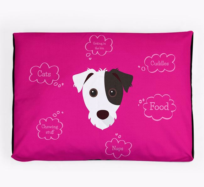 Personalised 'Sweet Dreams' Dog Bed for your Jack Russell Terrier