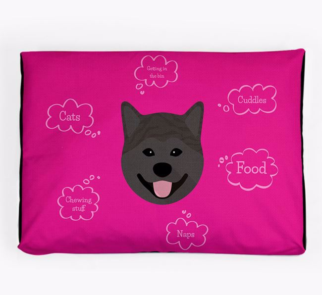Personalised 'Sweet Dreams' Dog Bed for your Japanese Akita