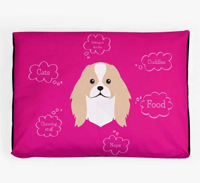 Personalised 'Sweet Dreams' Dog Bed for your Japanese Chin