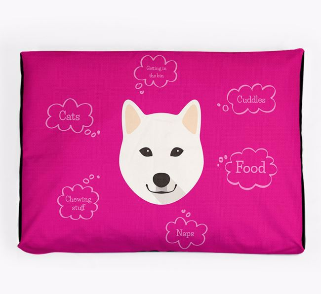Personalised 'Sweet Dreams' Dog Bed for your Japanese Shiba