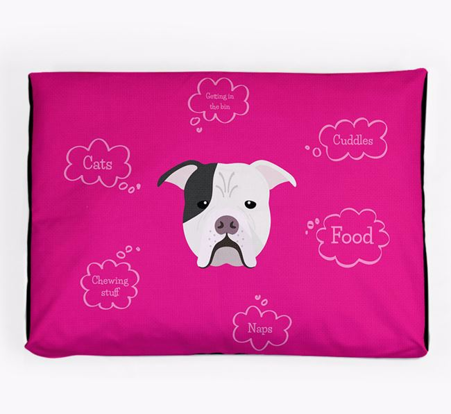Personalised 'Sweet Dreams' Dog Bed for your Johnson American Bulldog