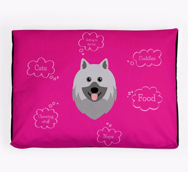 Personalised 'Sweet Dreams' Dog Bed for your Keeshond