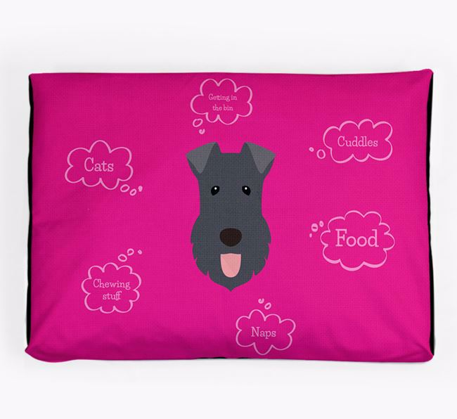Personalised 'Sweet Dreams' Dog Bed for your Kerry Blue Terrier