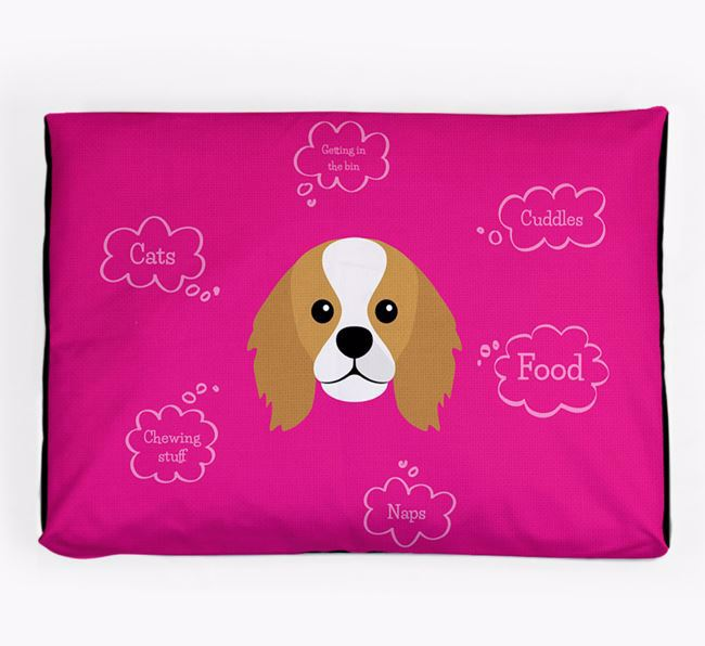 Personalised 'Sweet Dreams' Dog Bed for your King Charles Spaniel