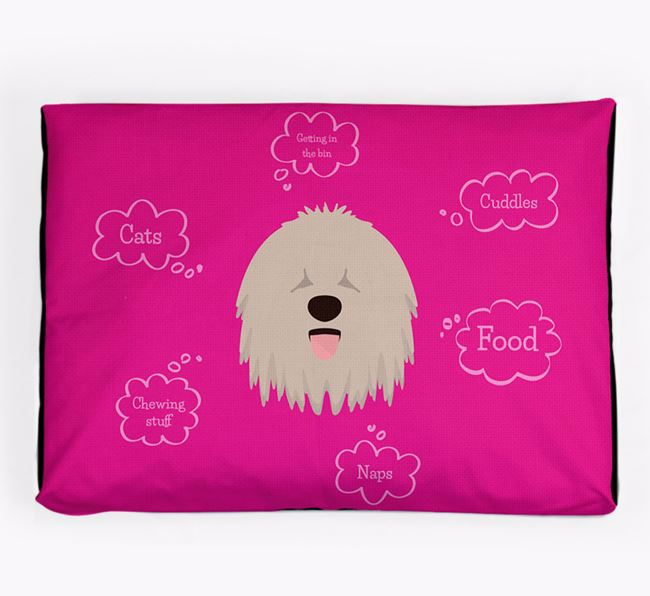 Personalised 'Sweet Dreams' Dog Bed for your Komondor