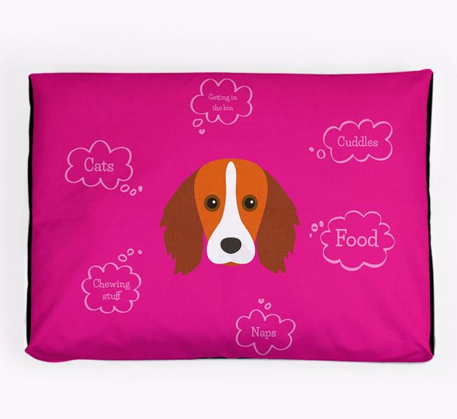 Personalised 'Sweet Dreams' Dog Bed for your Kooikerhondje