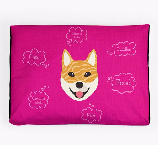 Personalised 'Sweet Dreams' Dog Bed for your Korean Jindo