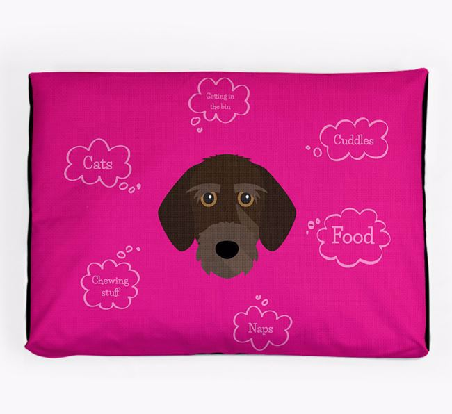 Personalised 'Sweet Dreams' Dog Bed for your Korthals Griffon
