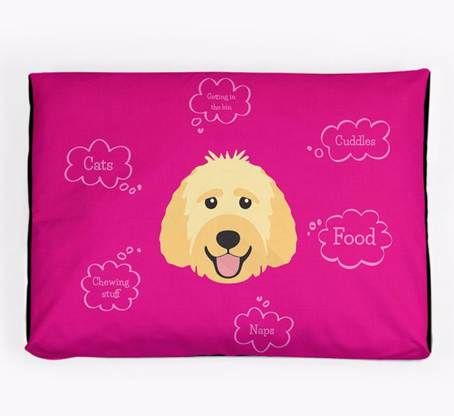 Personalised 'Sweet Dreams' Dog Bed for your Labradoodle