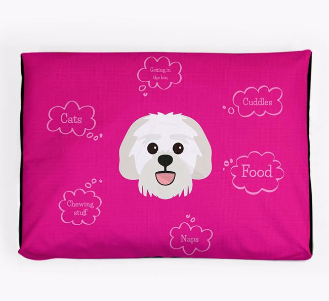 Personalised 'Sweet Dreams' Dog Bed for your Lachon
