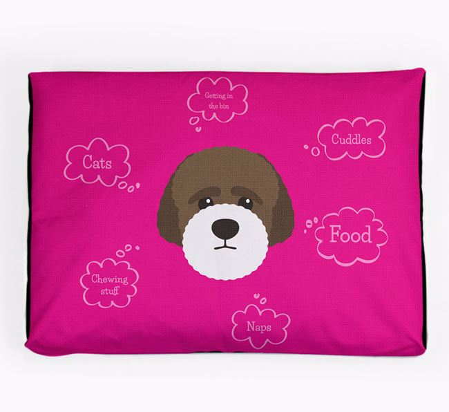 Personalised 'Sweet Dreams' Dog Bed for your Lagotto Romagnolo