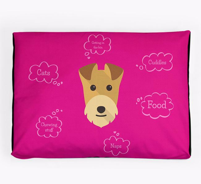 Personalised 'Sweet Dreams' Dog Bed for your Lakeland Terrier