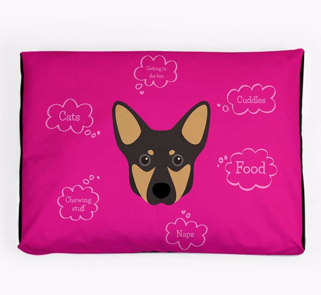 Personalised 'Sweet Dreams' Dog Bed for your Lancashire Heeler