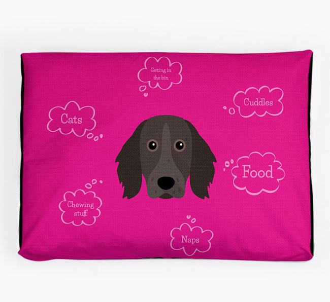 Personalised 'Sweet Dreams' Dog Bed for your Large Munsterlander