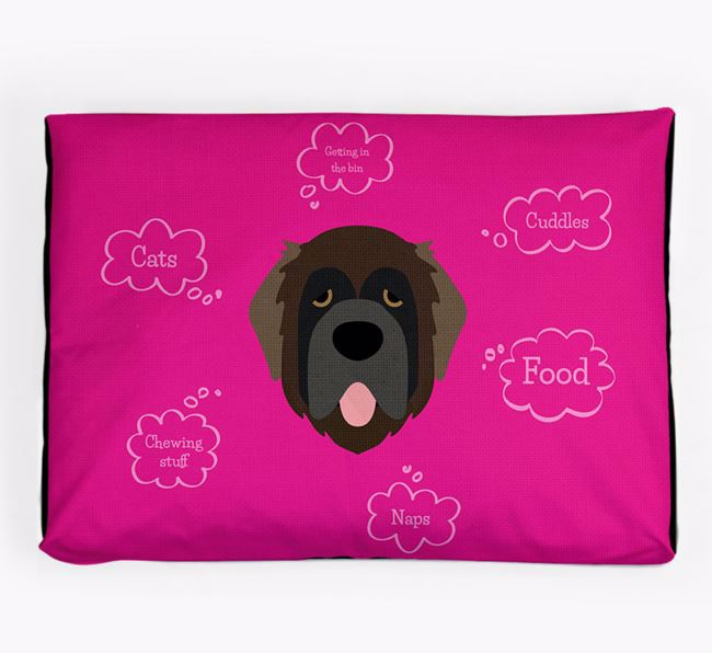 Personalised 'Sweet Dreams' Dog Bed for your Leonberger