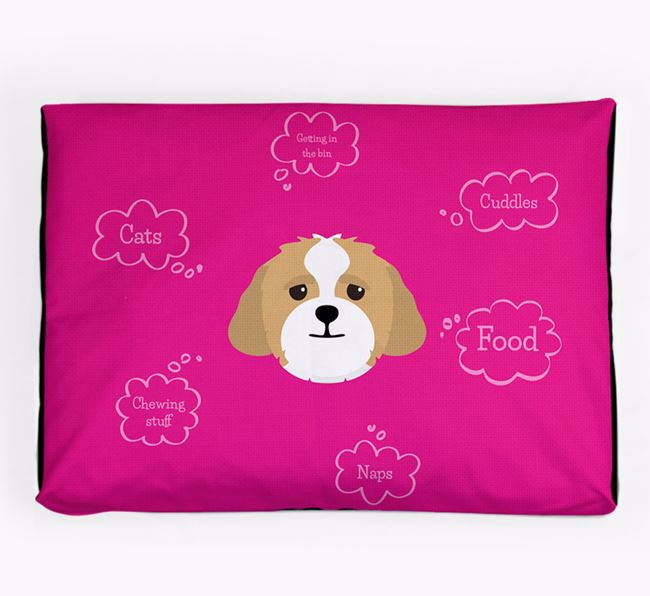 Personalised 'Sweet Dreams' Dog Bed for your Lhasapoo